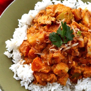 Pumpkin Coconut Chicken Curry