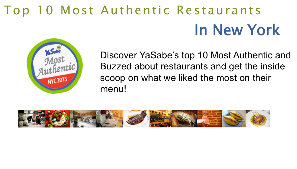 Top 10 Most Authentic Restaurants in NYC