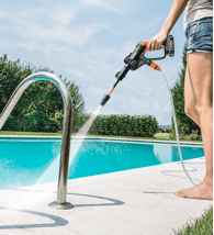 Cleaning a Pool with Hydroshot