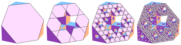 Slicing various levels of the Menger sponge