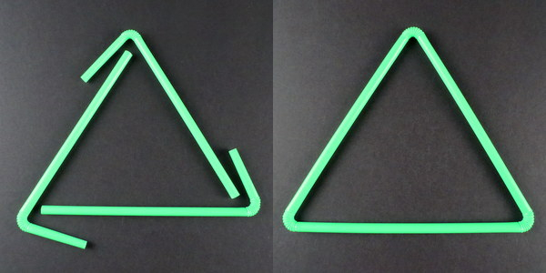 Straw triangle