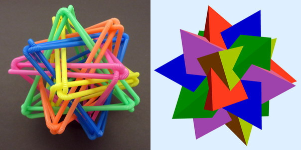 Straws Thingy as a compound of five tetrahedra.