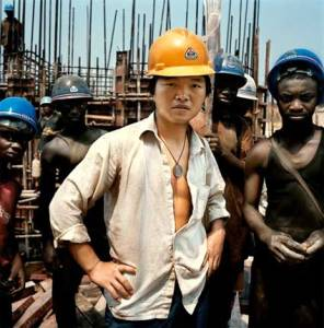 china guy in africa