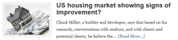 US housing market showing signs of improvement?