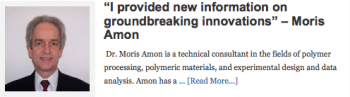I provided new information on groundbreaking innovations  Moris Amon