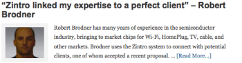 """Zintro linked my expertise to a perfect client"" – Robert Brodner"