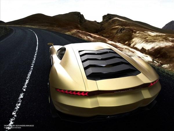 Lamborghini Supercar Concept 24 600x451 Lamborghini Design concept par Alex Imnadze : rafraichissant !