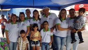 Empresária Riseuda Nunes e família.