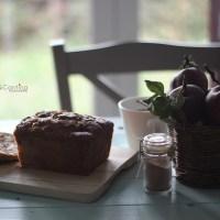 Plum cake alle mele e gocce di cioccolato