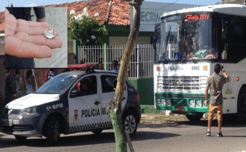 ônibus com os atletas do Alecrim foi atingido por diversos tiros.