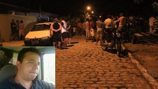 Violência na cidade de Caraúbas. Vítima fatal no detalhe