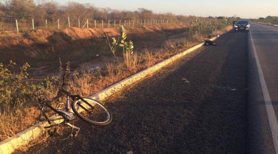 Acidente com ciclista na BR 110 em Mossoró