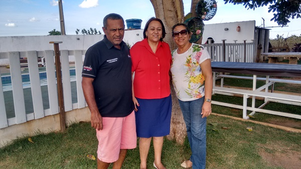 Senadora Fátima com o pré-candidato a prefeito Negão e a atual vice-prefeita Edna