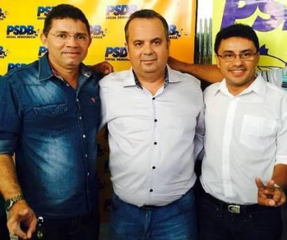 Vice-prefeito Marcono, deputado Rogério Marinho e o pré-candidato a prefeito Reginaldo