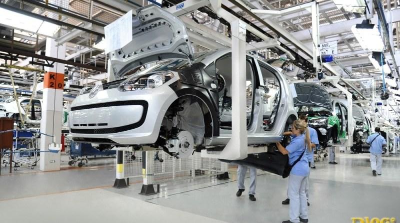 linha de montagem - Volkswagen UP