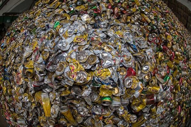 Latinhas reciclagem