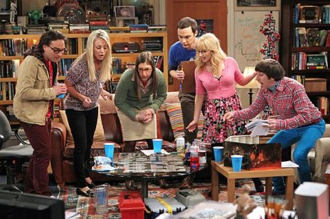 """The Love Spell Potential"" -- When the girls' trip to Vegas falls through, the guys invite them to play Dungeons & Dragons, causing Sheldon and Amy's relationship to take an unexpected turn, on THE BIG BANG THEORY, Thursday, May 9 (8:00 - 8:31 PM, ET/PT) on the CBS Television Network. Pictured left to right: Johnny Galecki, Kaley Cuoco, Mayim Bialik, Jim Parsons Melissa Rauch and Simon Helberg Photo: Monty Brinton/CBS ©2013 CBS Broadcasting Inc. All Rights Reserved"