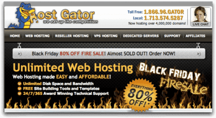 Hostgator Black Friday Deal: Get 65% to 80% off on All Hosting Plans