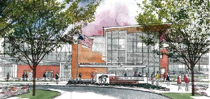 A view of the proposed Minuteman Regional Technical School. Belmont Town Meeting will vote to leave the Minuteman School District on October 19. A meeting on October 13 will give the Minuteman Administration a chance to make their case for the town to stay.