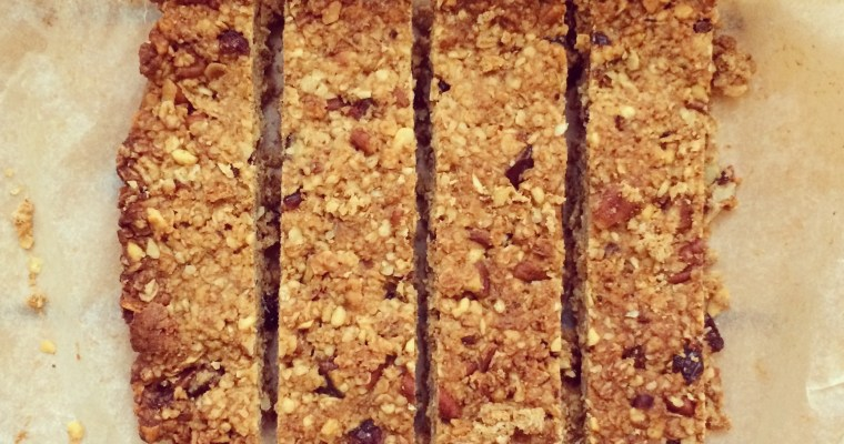 Honey, Pecan & Cranberry Granola bars