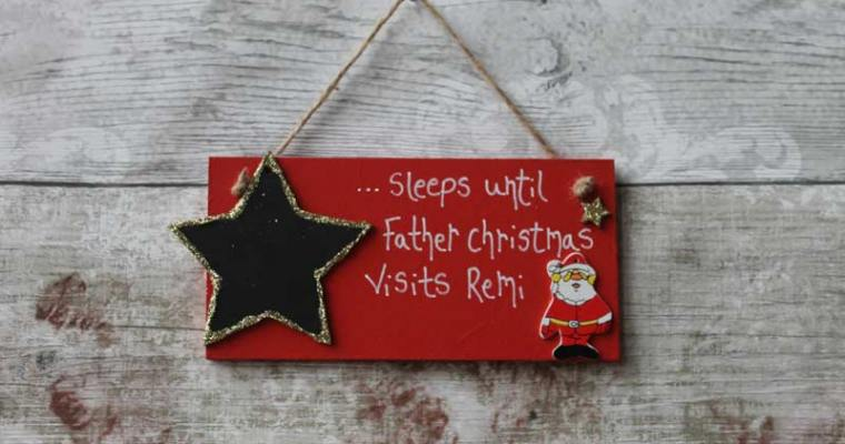 Competition | Personalised Santa Claus Plaque