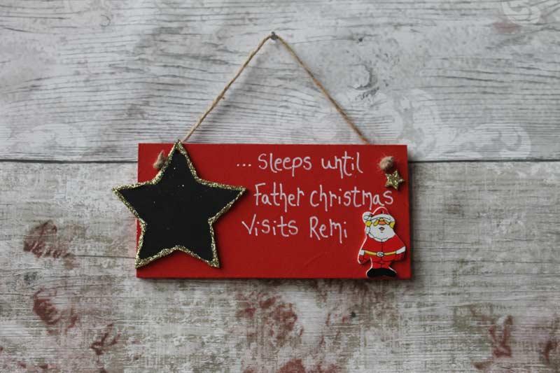 Competition | Personalised Santa Claus Plaque