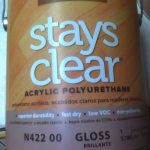 BM stays clear WB polyurethane