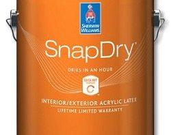 Sherwin Williams Snap Dry