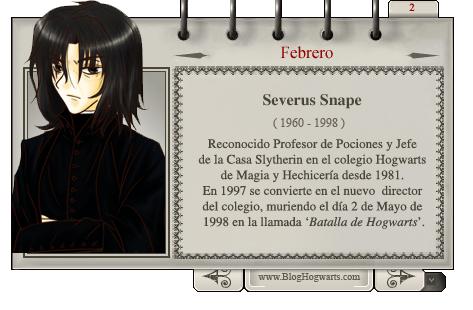 Severus Snape - Mago del Mes Febrero