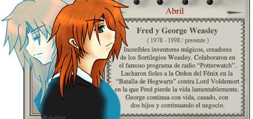 Fred y George Weasley -  Magos del Mes Abril