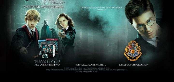Websites Oficiales de Harry Potter