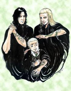 Snape, Lucius y Draco - Manechan