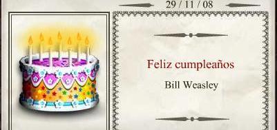 Cumpleaños de Bill Weasley: Noviembre 2008