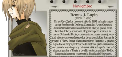 Remus Lupin - Mago del Mes Noviembre