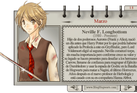 Neville Longbottom Mago del Mes de Marzo