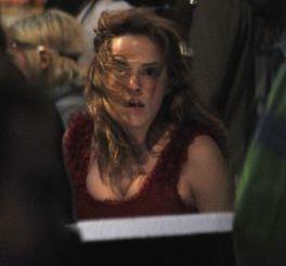 Emma Watson en el rodaje de Harry Potter y las Reliquias de la Muerte