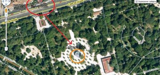 Mapa Concierto Salemm Rock