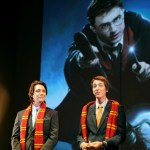 Twin actors James and Oliver Phelps (C-L