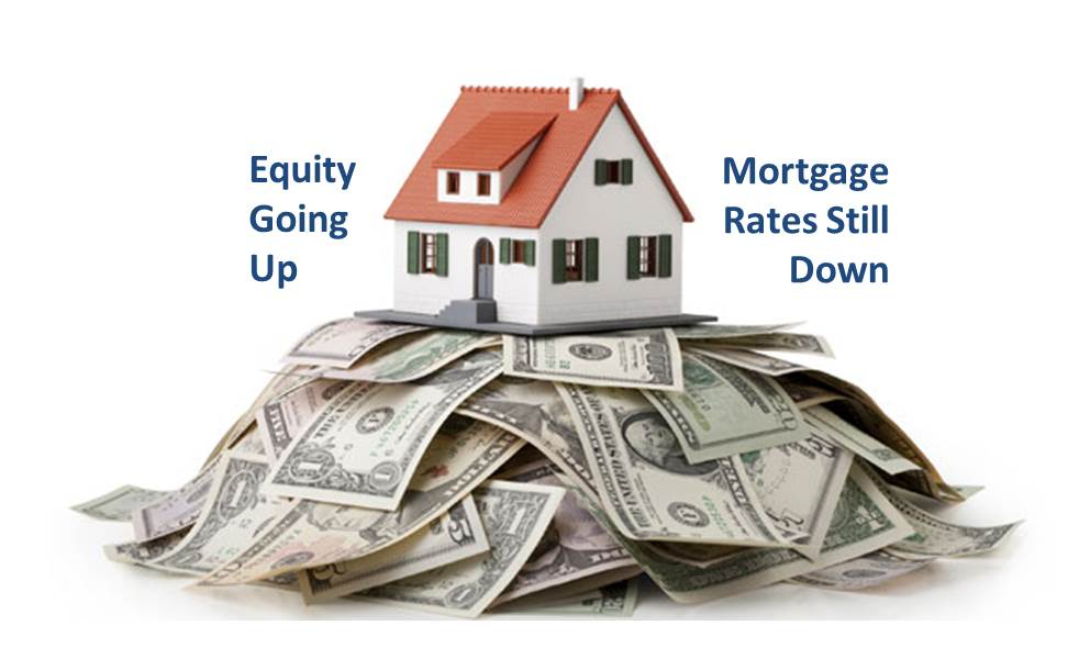 Good news home equity going up mortgage rates stay down for Home equity loan rates