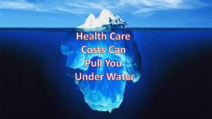 health care costs can pull you under water iceberg