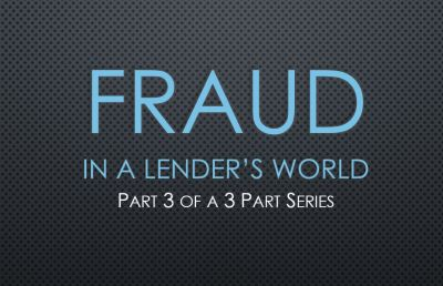 Fraud | How Lenders Should Protect Themselves