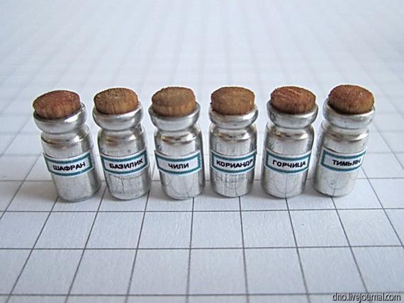 Objetos em miniatura extremamente detalhados