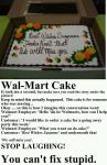 Taking Instructions Literally: The Walmart Cake