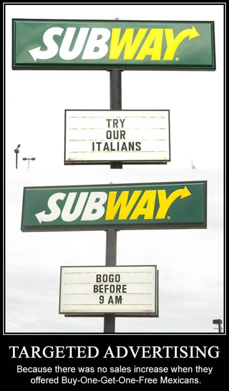 Racist Subway Ads