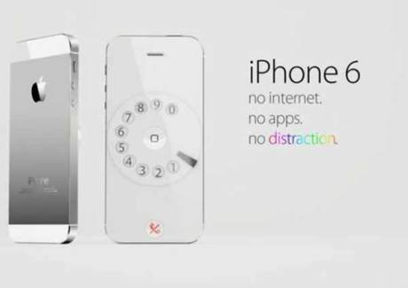 iPhone 6: No Apps.  No Internet.  No distractions.