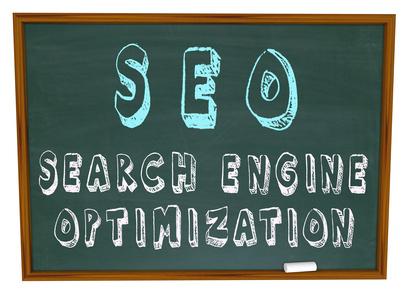 SEO Search Engine Optimization - Words on Chalkboard