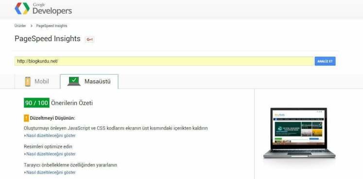 W3TC kurulmadan önce hızı google standartlarının altında olan blog kurdu şimdi google'dan yeşil ışı<div class=