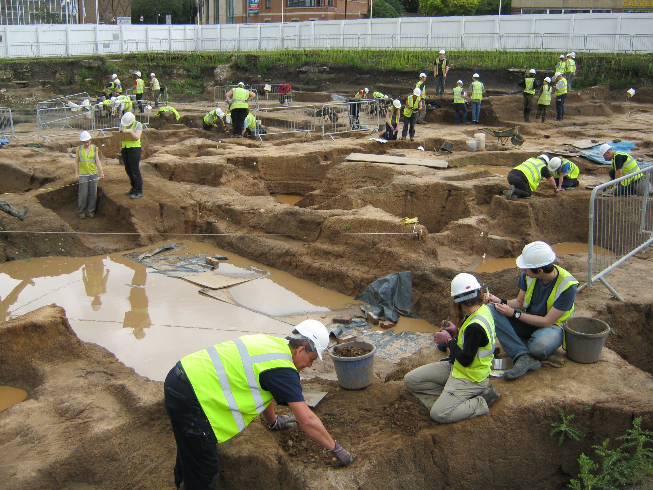 Hungate excavation.