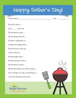 Small Of Fathers Day Questionnaire