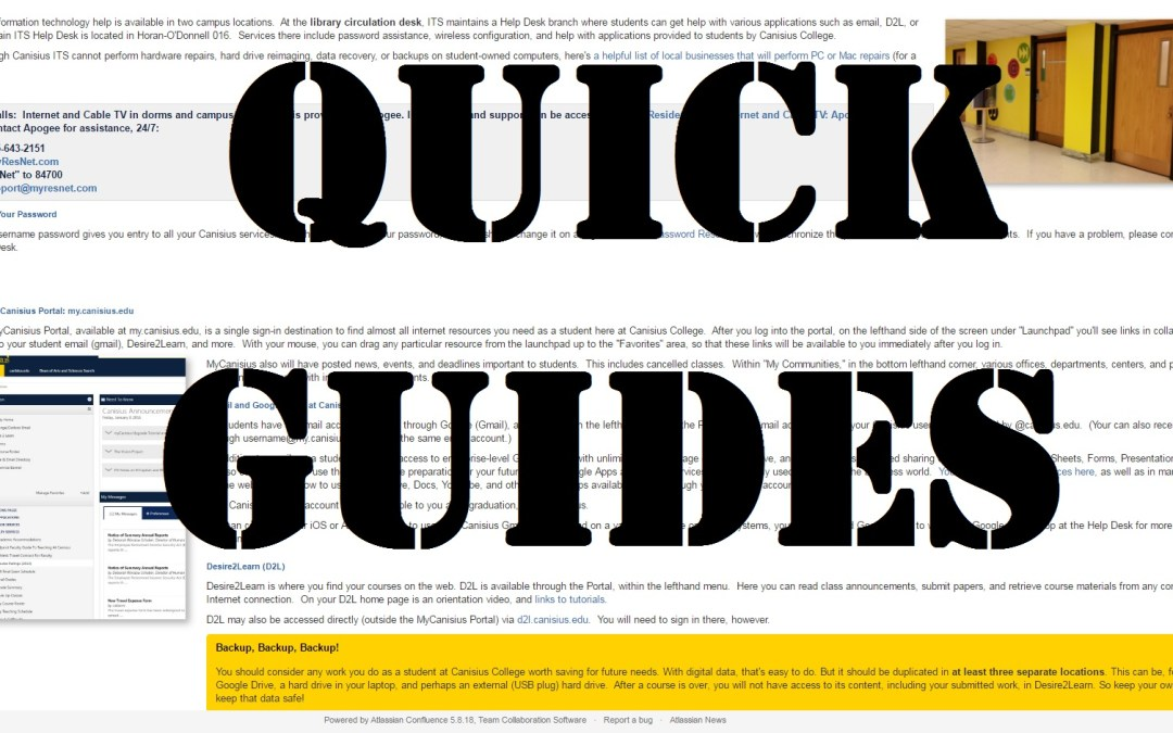 Quick Technology Guides: Handy for You and Your Students